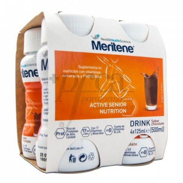 MERITENE DRINK CHOCOLATE 4X 125ML