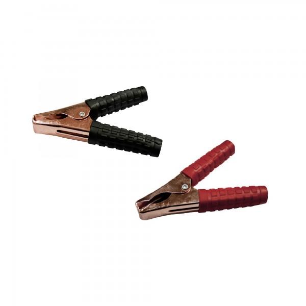 Pinza bateria 140mm.150 a.negra/roja 2u.
