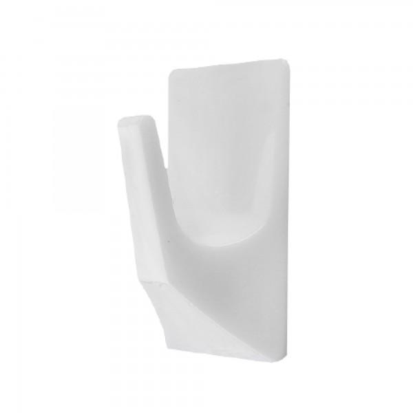 Percha plastico 30x20mm. blanca bl. 5u