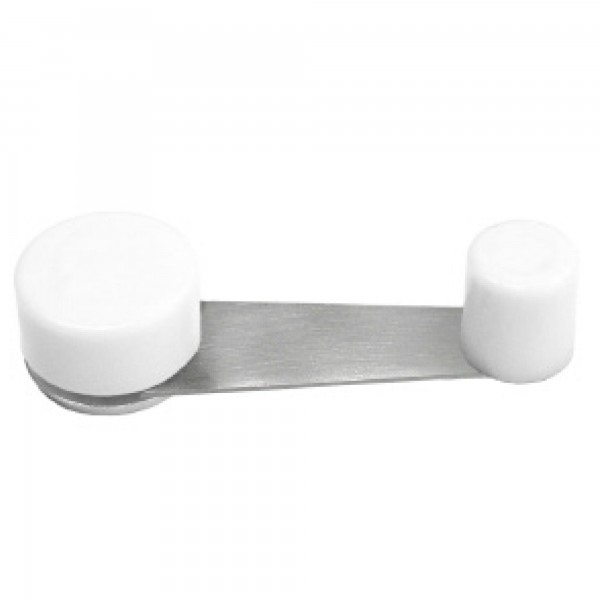Tope puerta retenedor metalico blanco