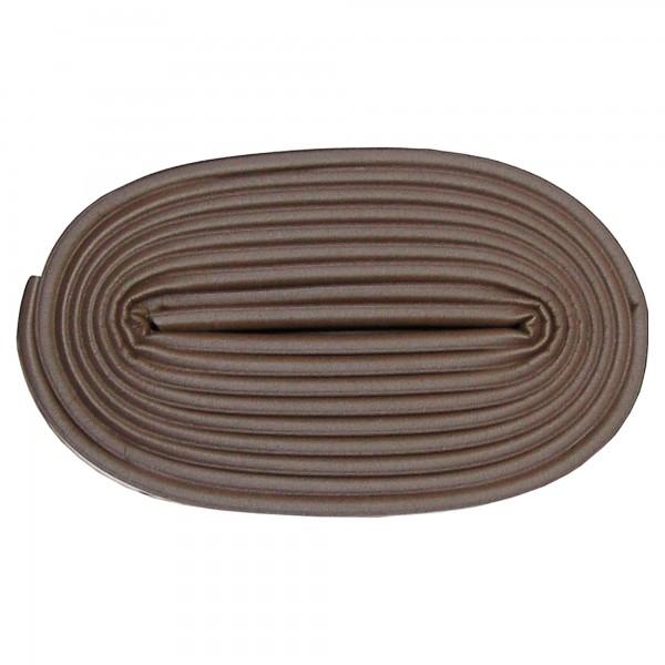 Burlete caucho tipo p  6m.x 9mm. marron