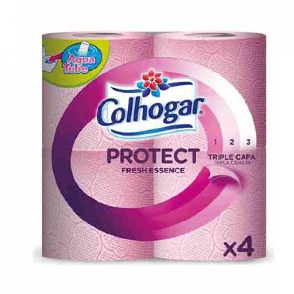 Colhogar papel higienico triple capa 4 rollos