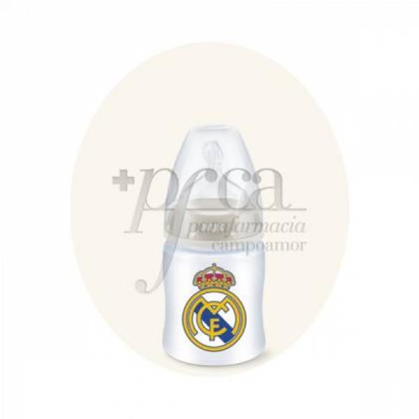 NUK REAL MADRID BIBERON FC SILICONA 150ML 0-6M