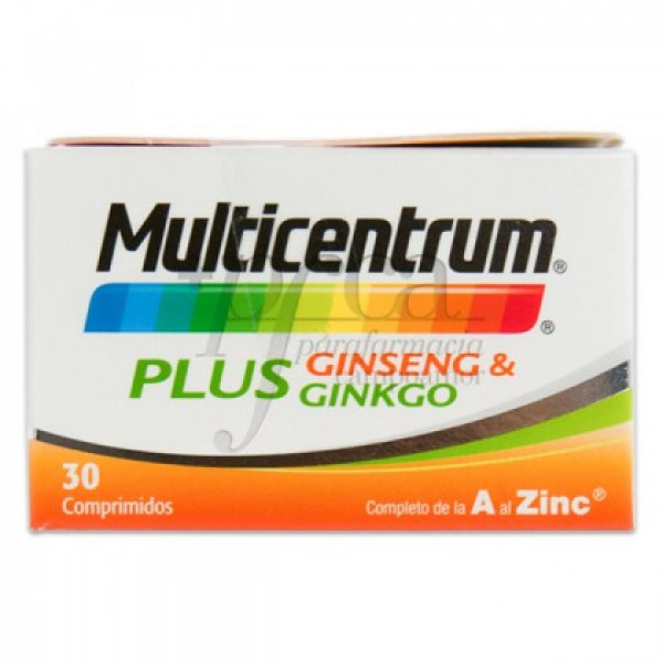 MULTICENTRUM PLUS GINSENG Y GINKGO 30 COMPS