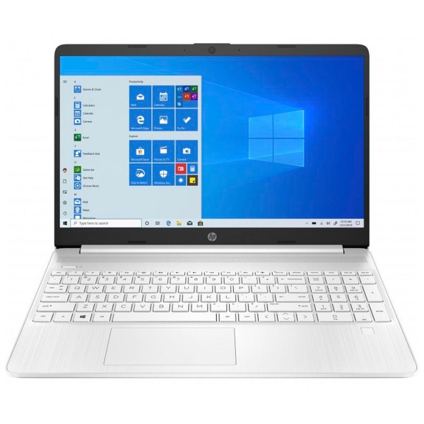 Hp laptop 15s-eq1009 blanco portátil 15.6'' hd amd ryzen 3-3250u 512gb ssd 8gb ram windows 10 home