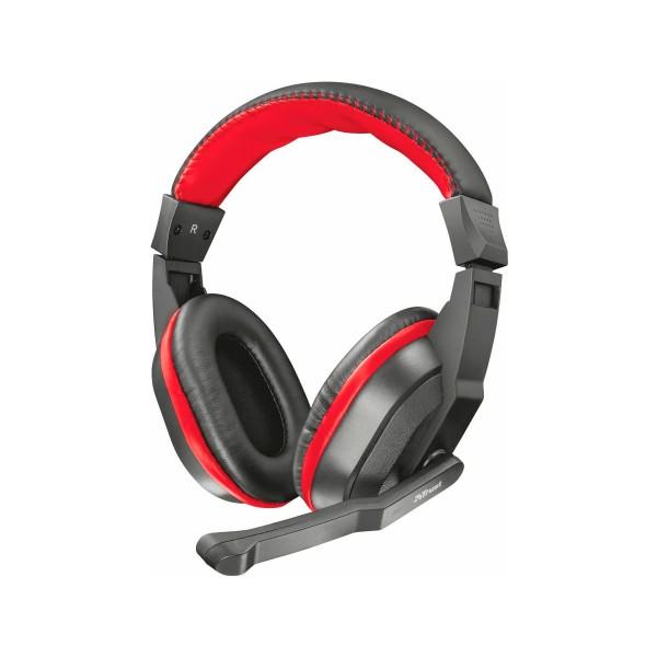 Trust ziva negro rojo auriculares over-ear con micro para gaming
