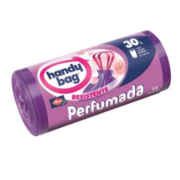Handy Bag bolsas de basura perfumadas  30 L 15 bolsas