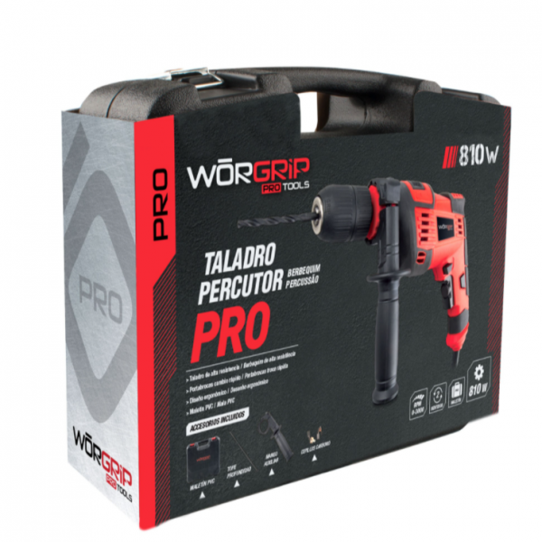 Taladro percutor worgrip-pro 810w.