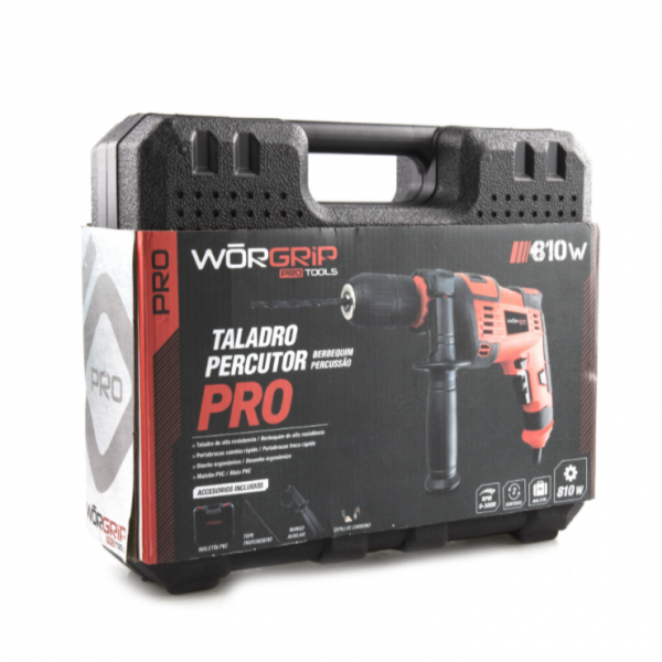 Taladro percutor worgrip-pro 600w.