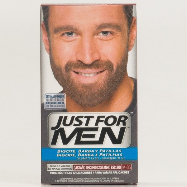 JUST FOR MEN BIGOTE Y BARBA CASTAÑO OSCURO M-35