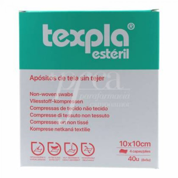 TEXPLA APOSITO ESTERIL 10X10CM 8 SOBRES 5 UDS