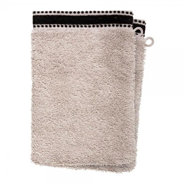 Pack 2ud guante-toalla baño premium color lino 15x21cm