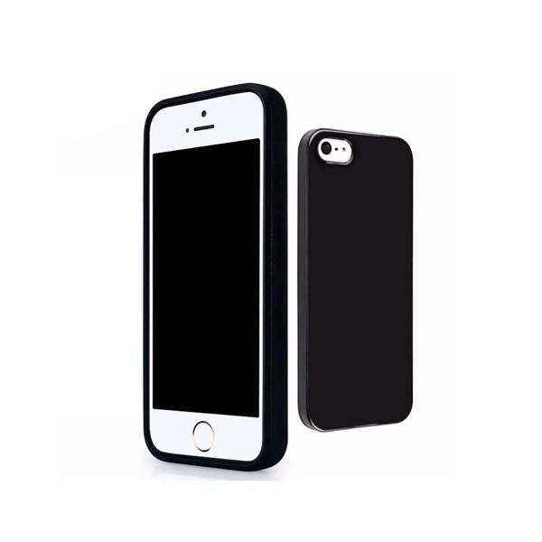 Jc funda de silicona negra para apple iphone 5 / 5s / se