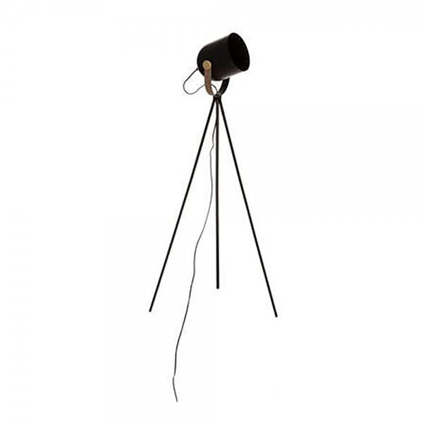 Lampara tripode 136cm negra col.'action' e27 (bombilla no incluida)