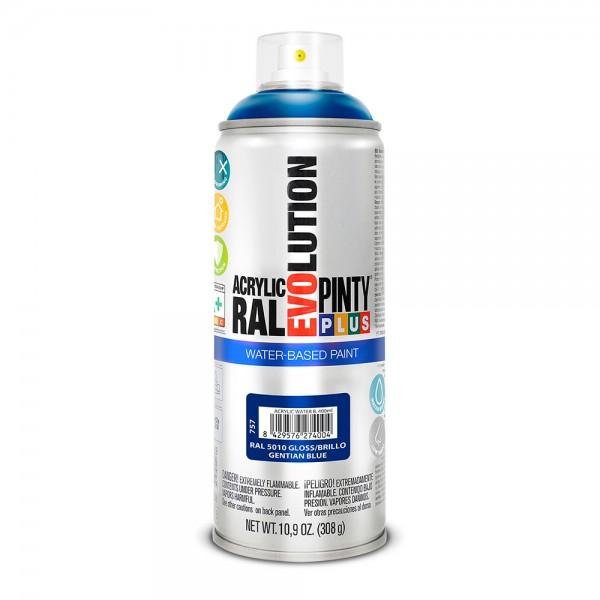 Pintura en spray pintyplus evolution water-based 520cc ral 5010 azul genziana