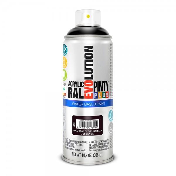 Pintura en spray pintyplus evolution water-based 520cc ral 9005 negro intenso